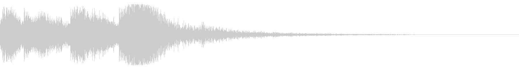 和風 オーケストラヒット ジングル!5bの未再生の波形