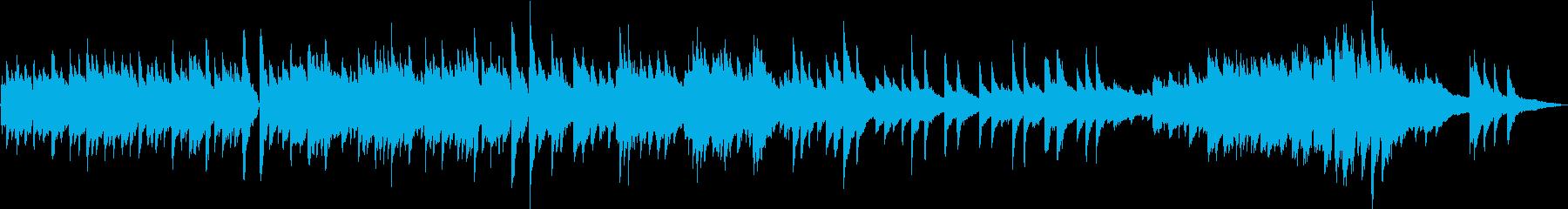 生演奏 厳格な雰囲気のピアノ曲の再生済みの波形