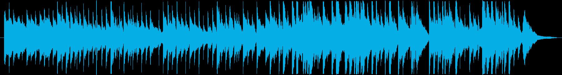 軽やかなカントリー風ミュージックの再生済みの波形