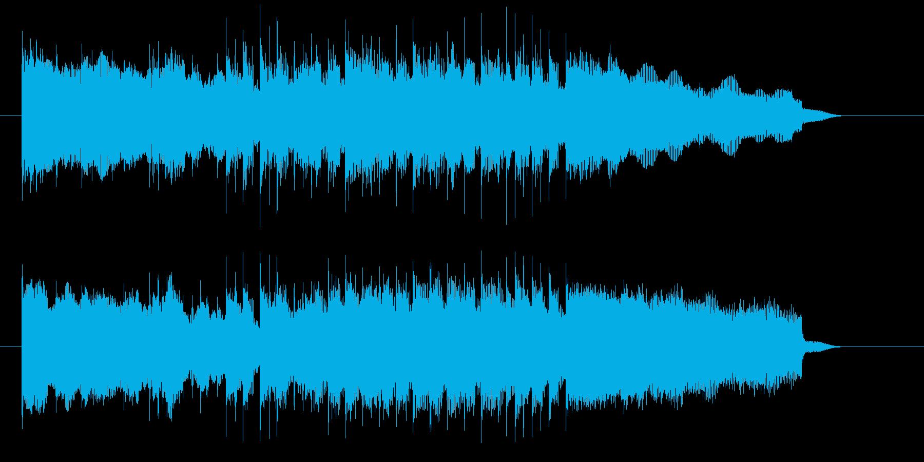 歪んだギターがかっこいいジングル曲の再生済みの波形