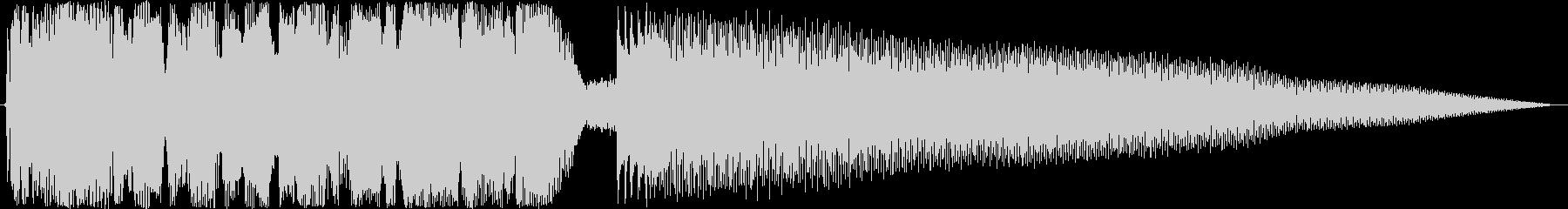 ジングル ロックンロールギターBの未再生の波形