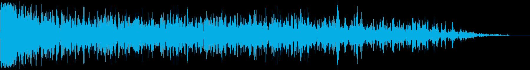 【アンビエント】ドローン_08 実験音の再生済みの波形