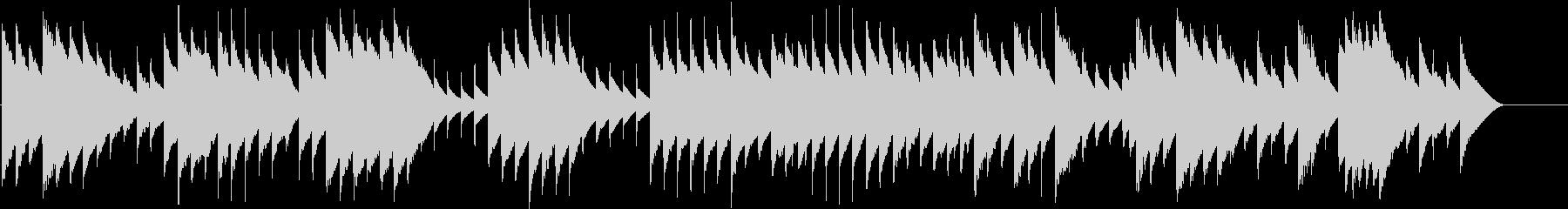 オルゴールで子守唄3(モーツァルト)の未再生の波形