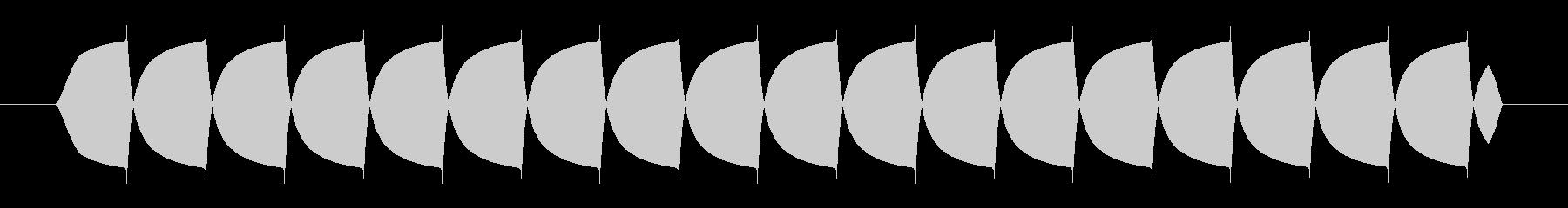ビープ音-低周波-短の未再生の波形