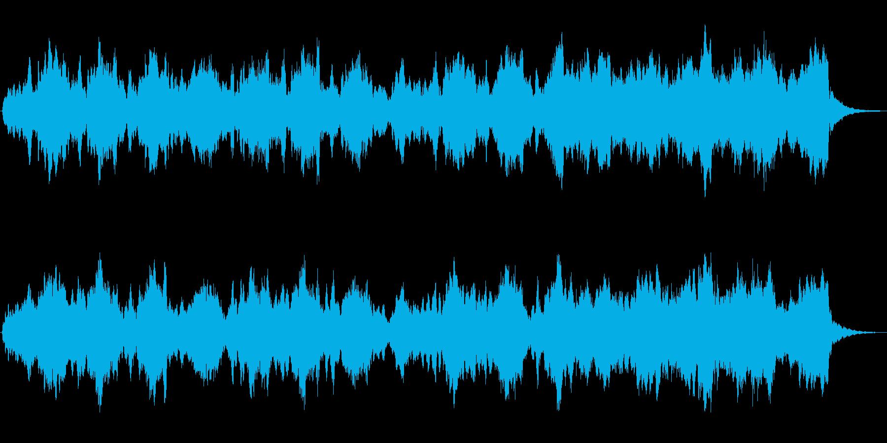ホルンとシンセのほのぼのとしたジングルの再生済みの波形