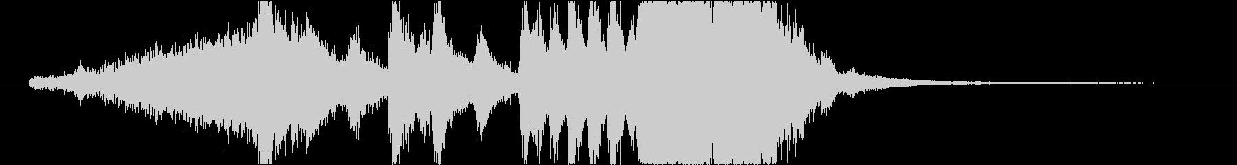 金管楽器編成のファンファーレの未再生の波形