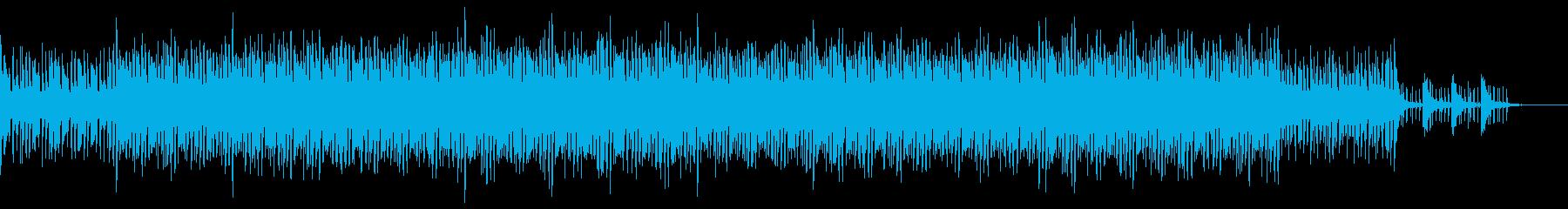 どこかもの悲しいジャズテイストのBGMの再生済みの波形