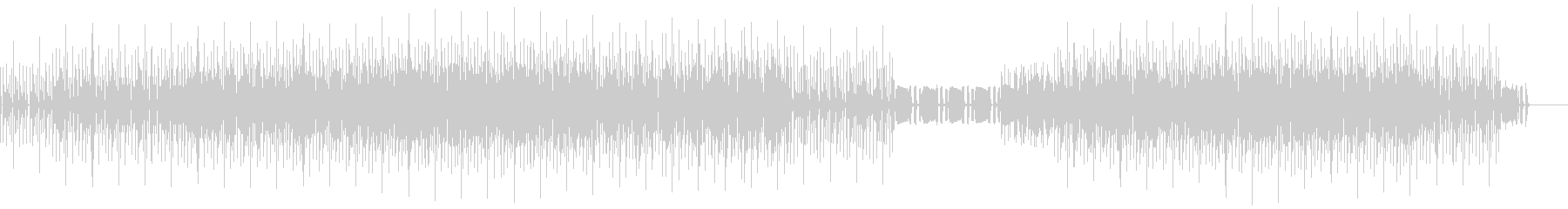 タフな印象のする音を使ったテクノロックの未再生の波形