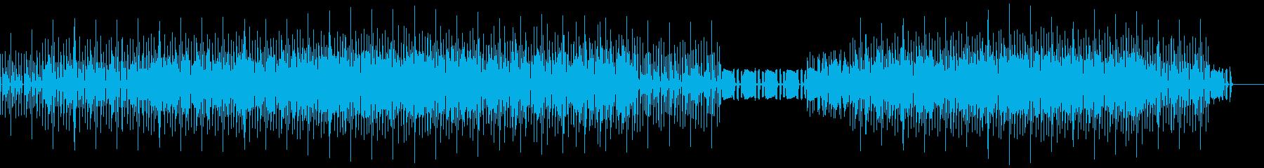 タフな印象のする音を使ったテクノロックの再生済みの波形