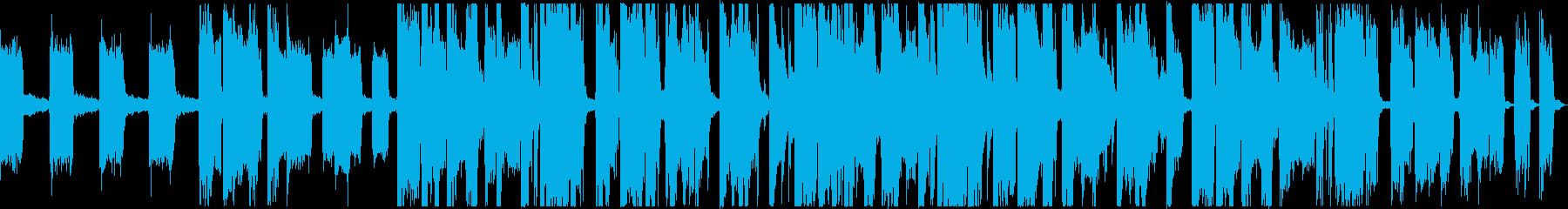 エレクトリックなジングル向け30秒の曲の再生済みの波形