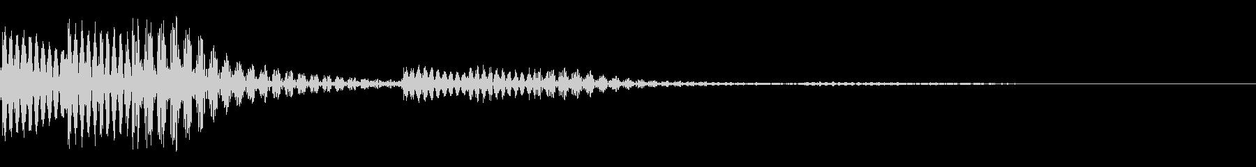 コロンとしたタッチ音です。の未再生の波形