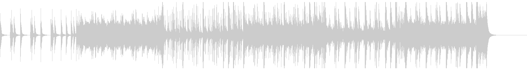 三味線と笛と和太鼓のシンプルな和風曲の未再生の波形