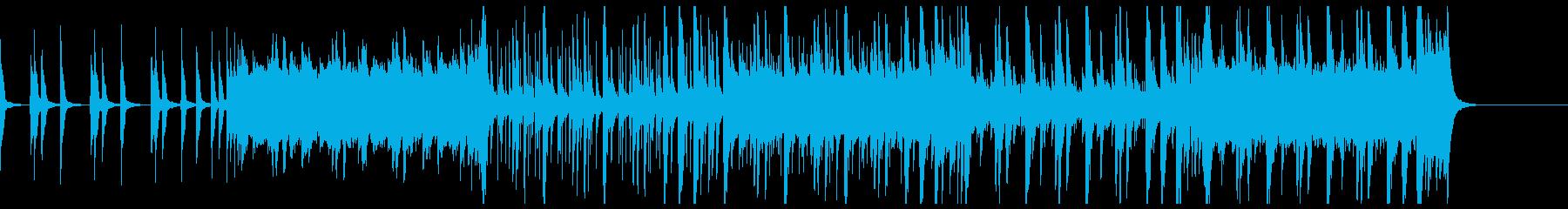 三味線と笛と和太鼓のシンプルな和風曲の再生済みの波形