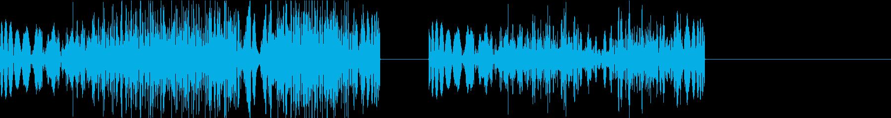 DJプレイ スクラッチ・ノイズ 310の再生済みの波形