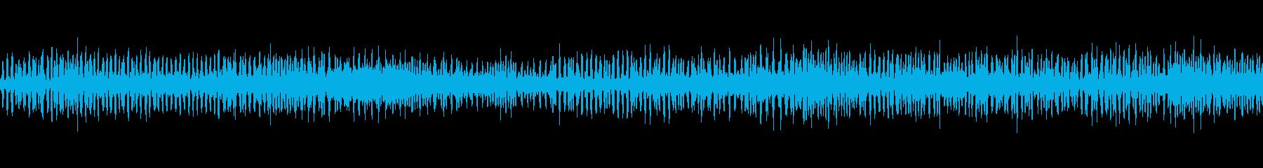 アマガエルの合唱の再生済みの波形