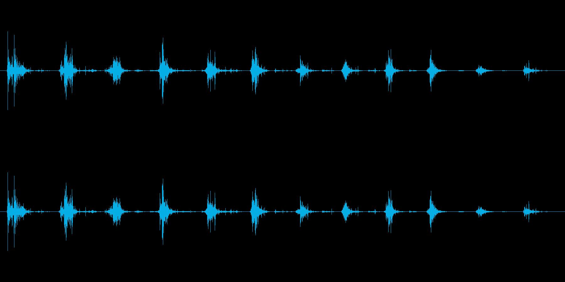 ボリボリボリ(おかきを食べる音)の再生済みの波形