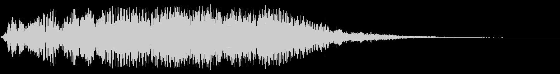 ブォーンと広がるジングル系スペース音の未再生の波形