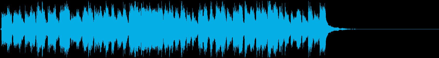 どたばたアクションコメディ15秒ジングルの再生済みの波形