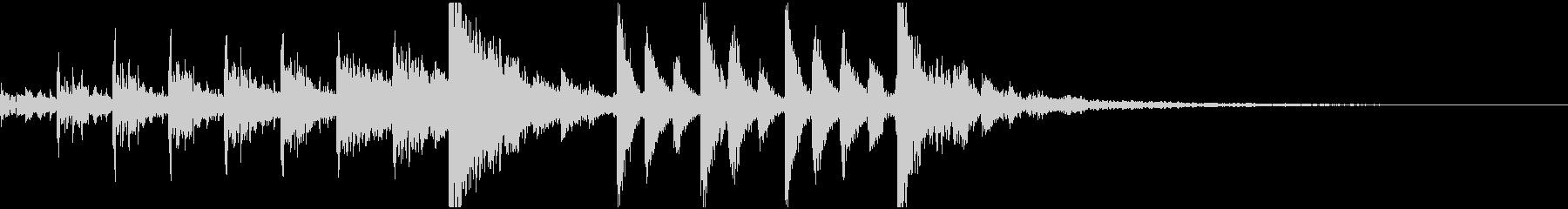 CM入りサウンドロゴ向けテクノ風ジングルの未再生の波形
