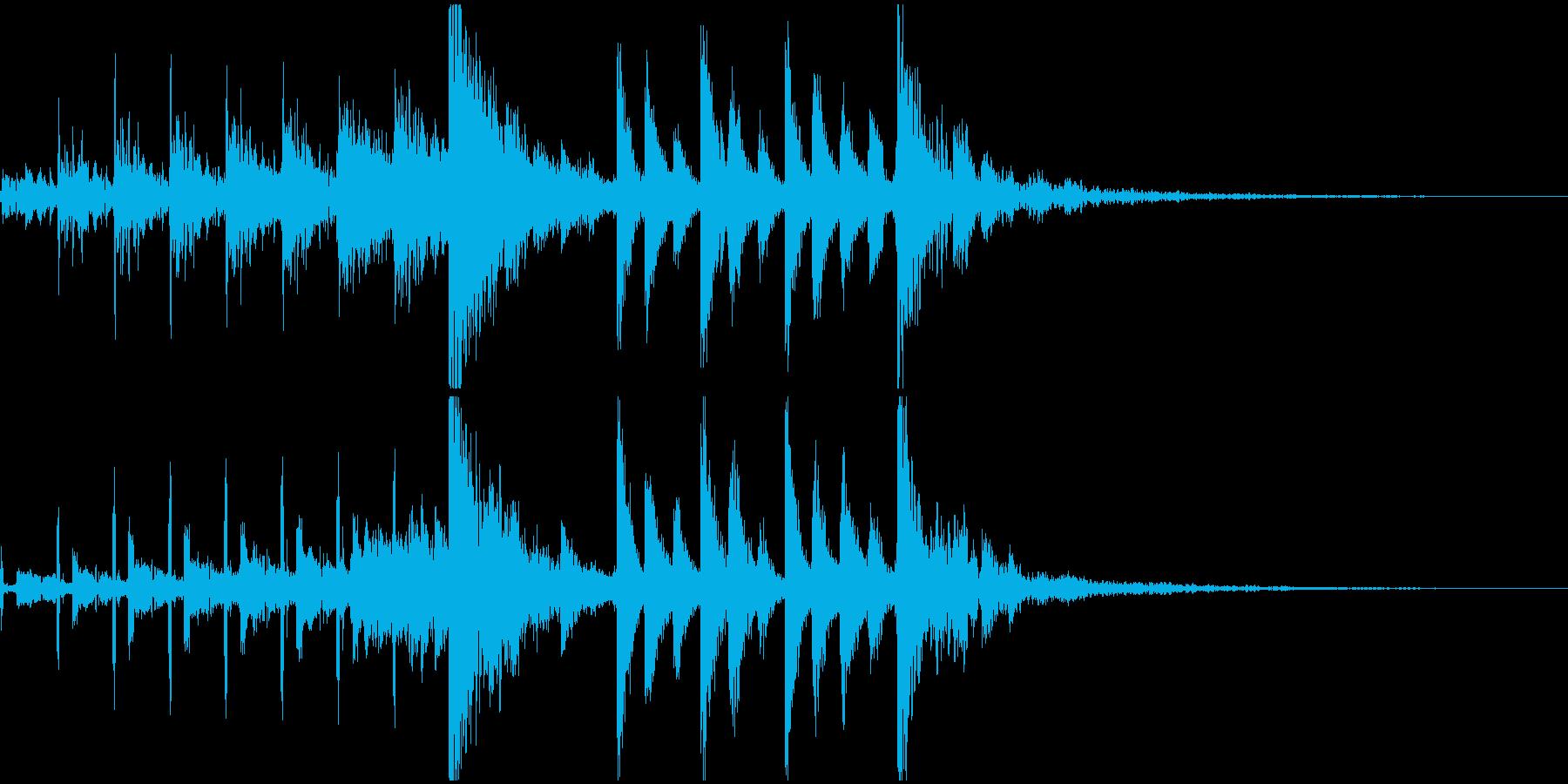 CM入りサウンドロゴ向けテクノ風ジングルの再生済みの波形