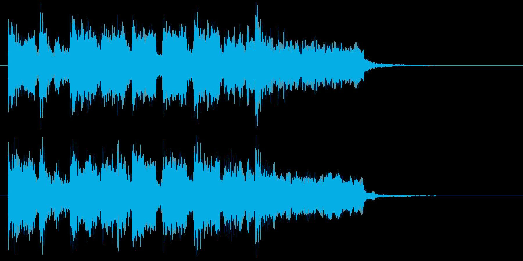 自由でノリノリなリコーダーのサウンドロゴの再生済みの波形