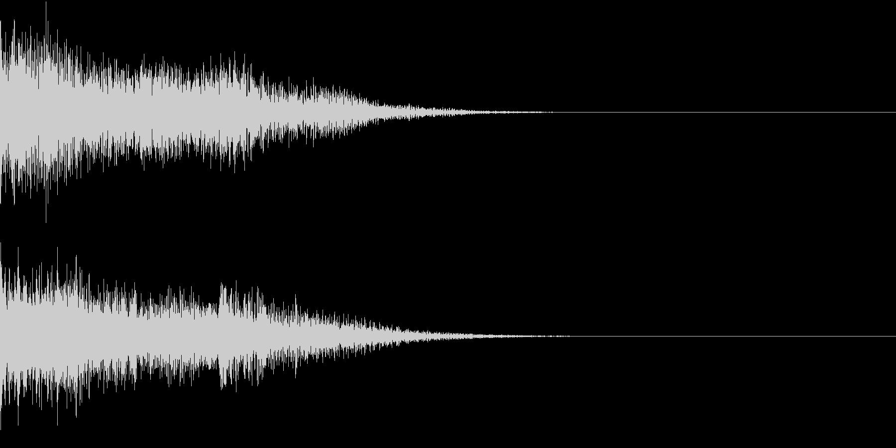 衝撃 金属音 恐怖 震撼 ホラー 01の未再生の波形