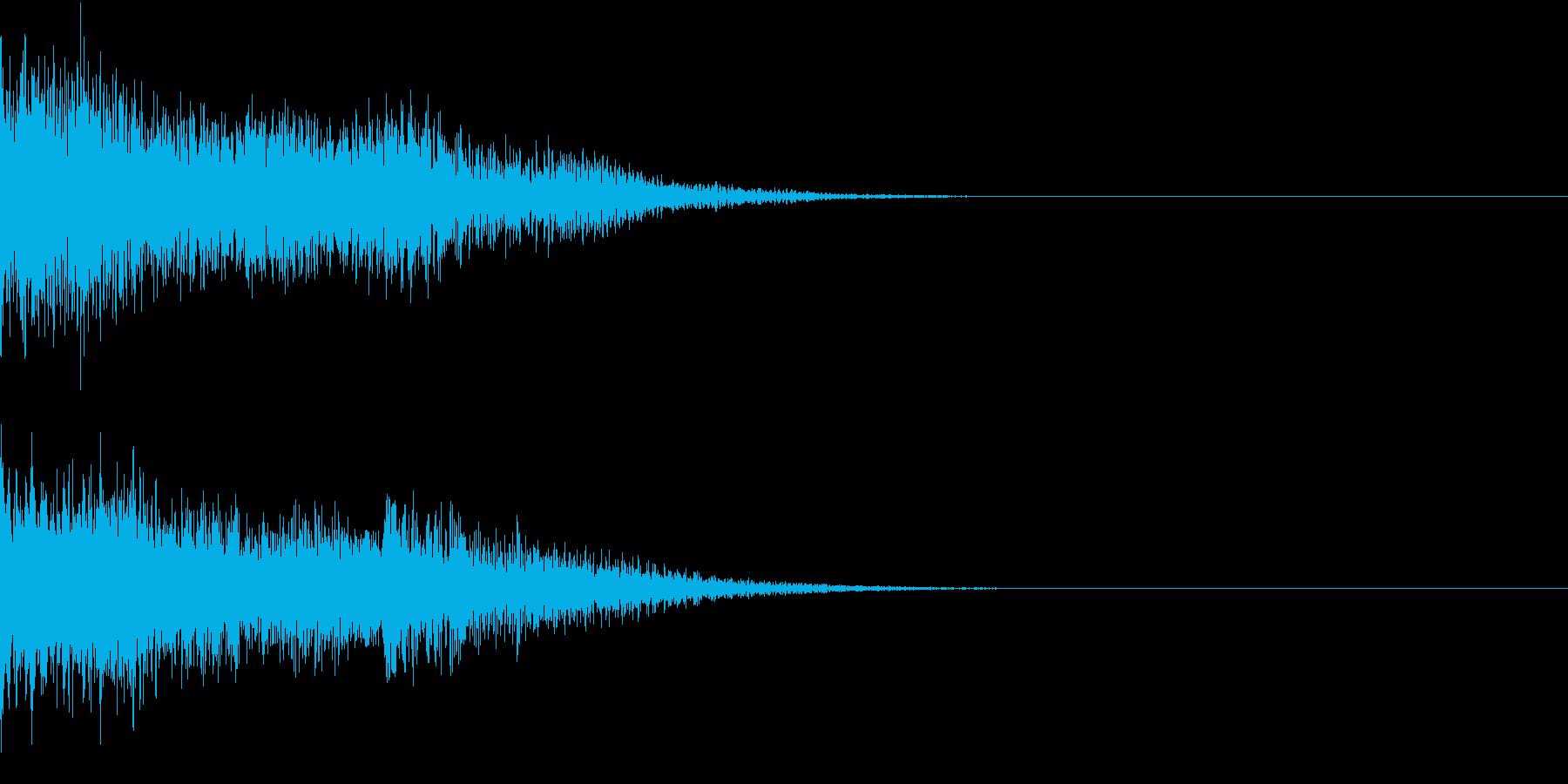衝撃 金属音 恐怖 震撼 ホラー 01の再生済みの波形