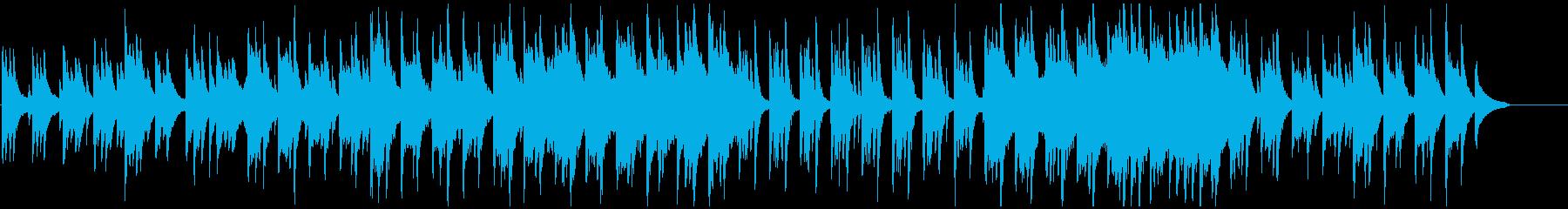 草原のようなピアノベースのバラードBGMの再生済みの波形