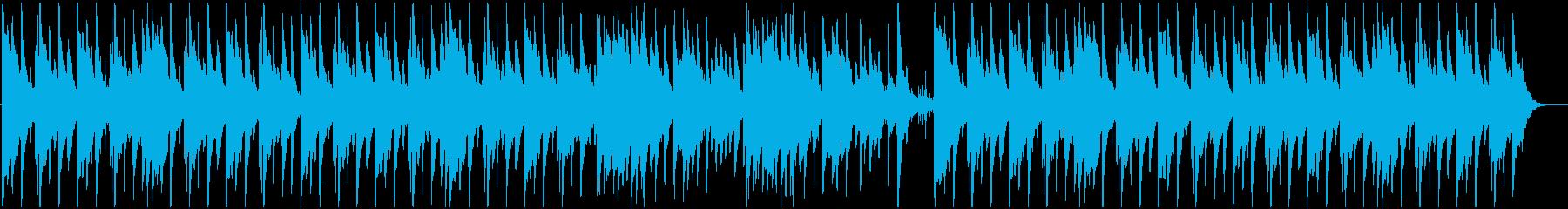 夜をイメージした優しいピアノ曲の再生済みの波形