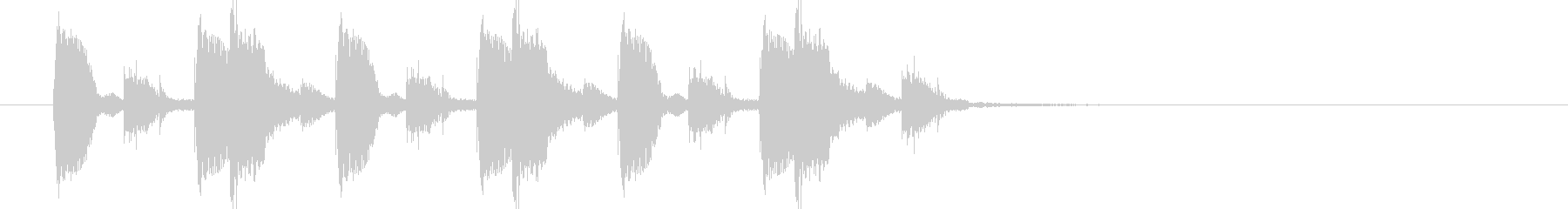 Analog synth techno pop jingle's unreproduced waveform
