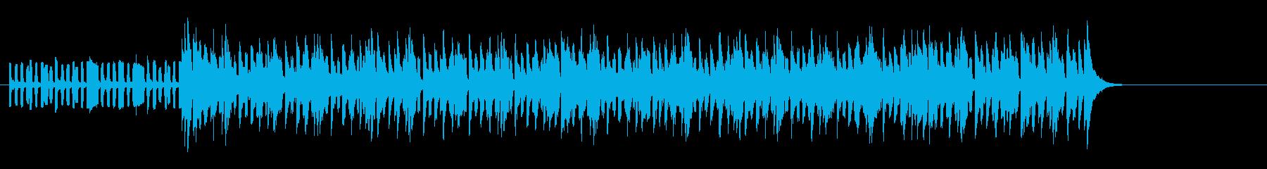 ブルーヴ感漂うテクノ・ミュージックの再生済みの波形
