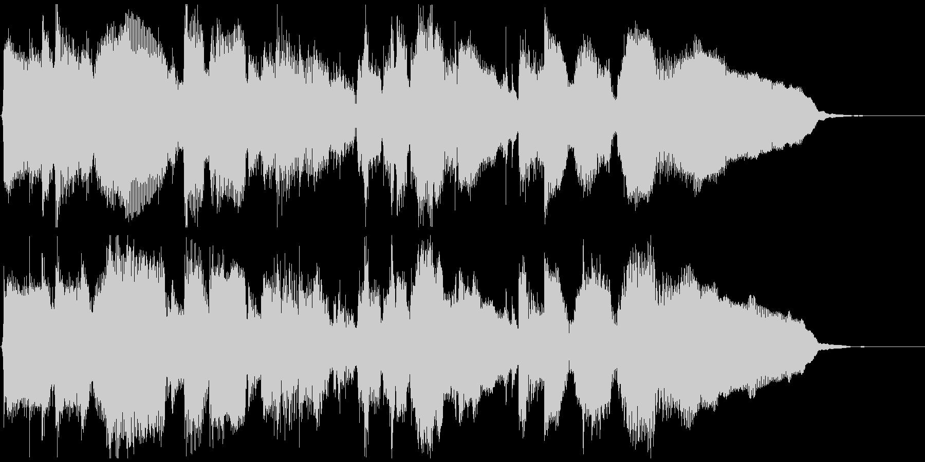 静かなサックスとピアノ◆CM向け15秒曲の未再生の波形