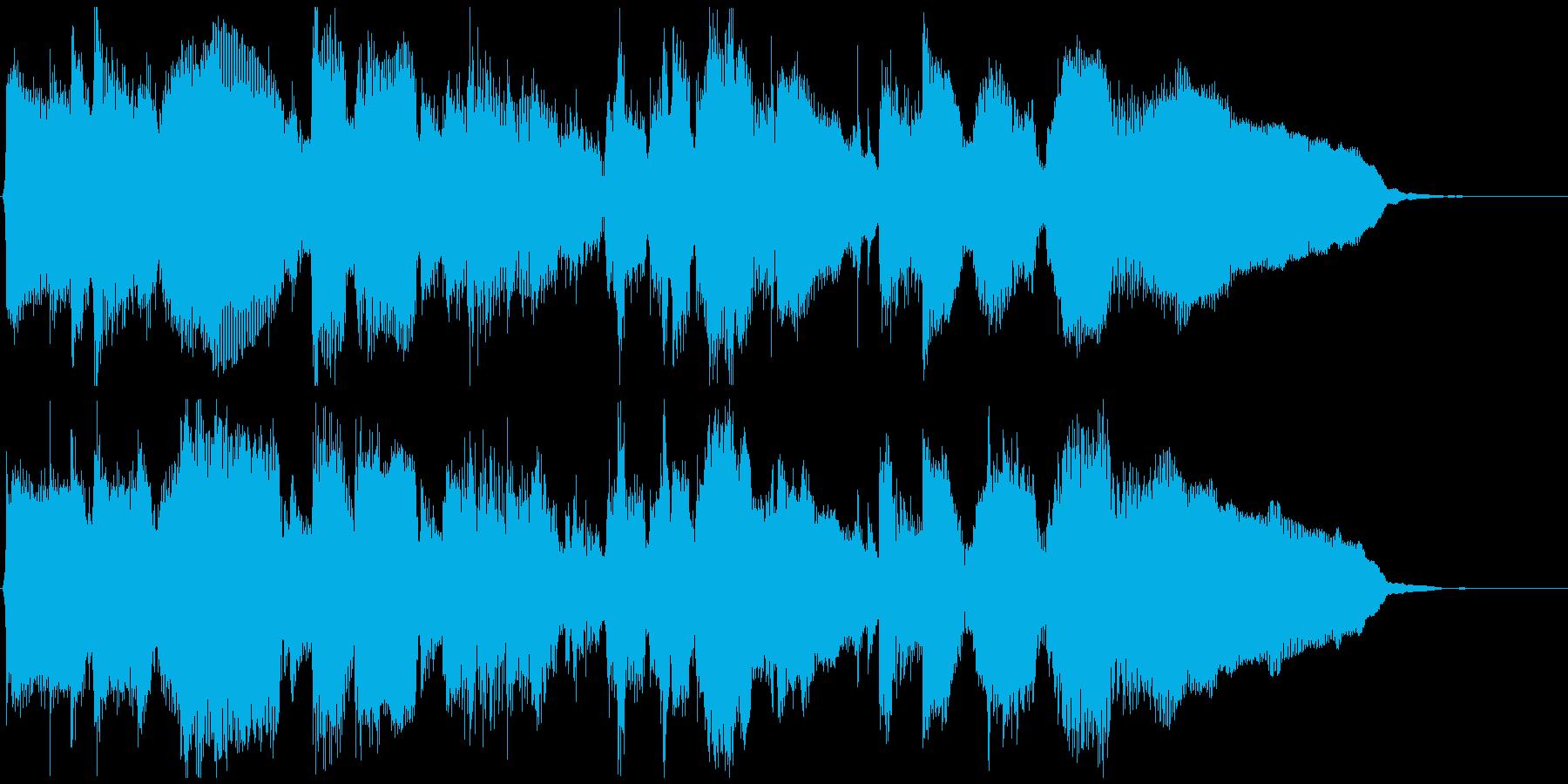 静かなサックスとピアノ◆CM向け15秒曲の再生済みの波形