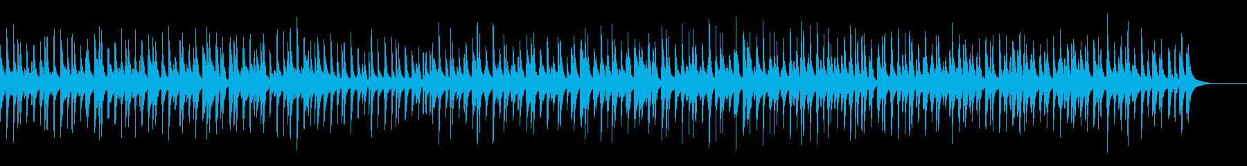 明るく陽気なジャズトリオ曲の再生済みの波形