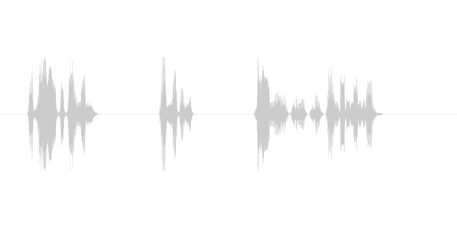 目覚まし用音声の未再生の波形