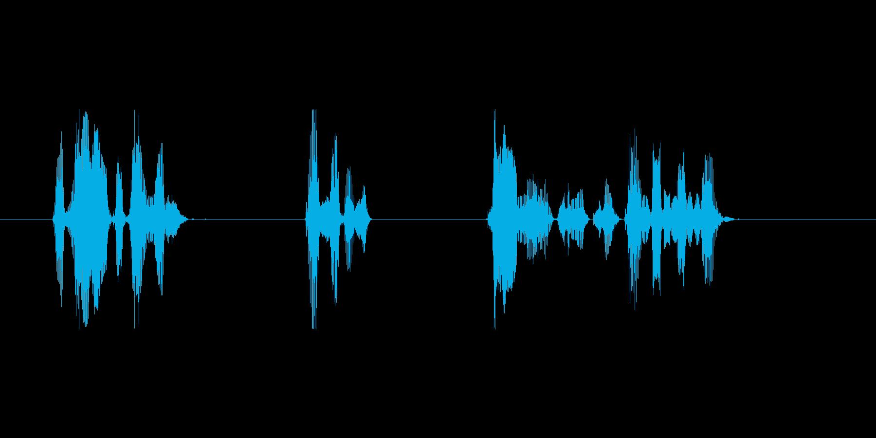 目覚まし用音声の再生済みの波形