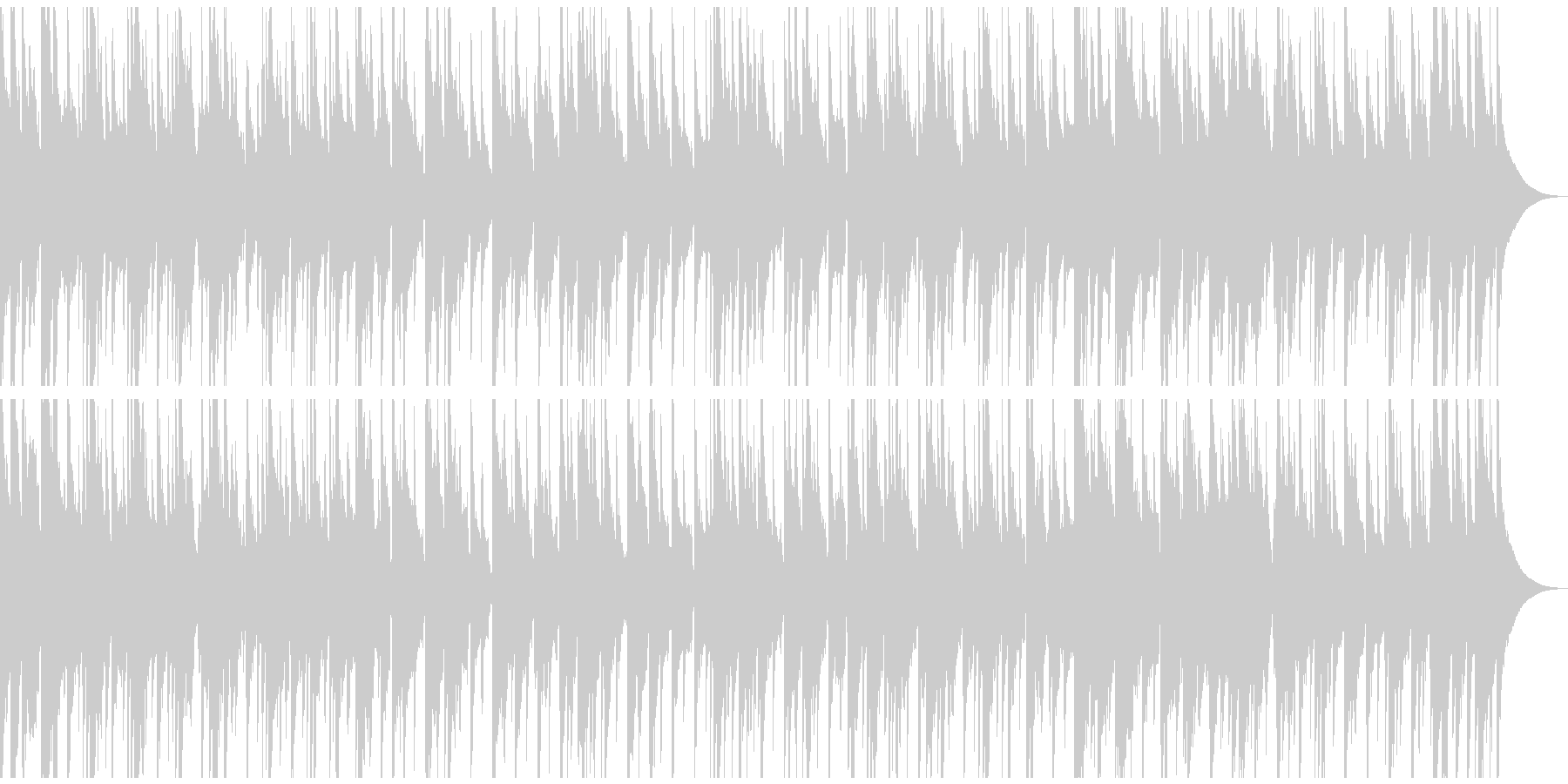 生演奏アコースティックギターのバラードの未再生の波形