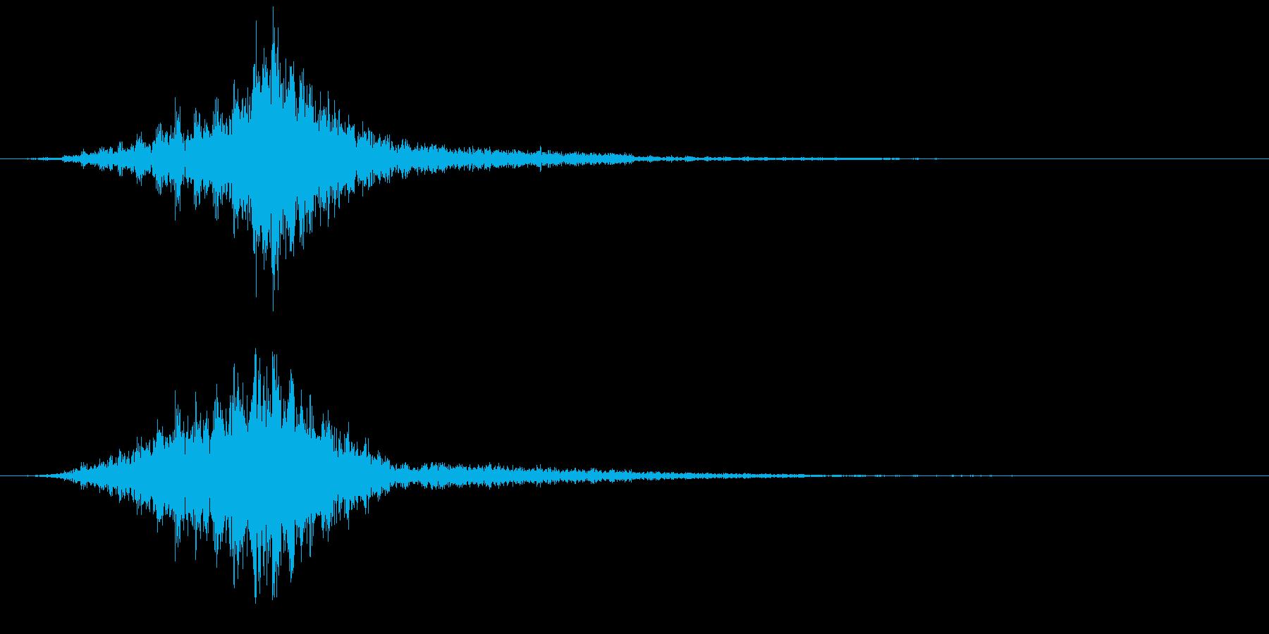 ビリ・・・(電撃音)の再生済みの波形