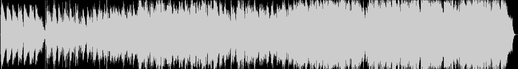 薄暗い森のイメージのヒーリング音楽の未再生の波形