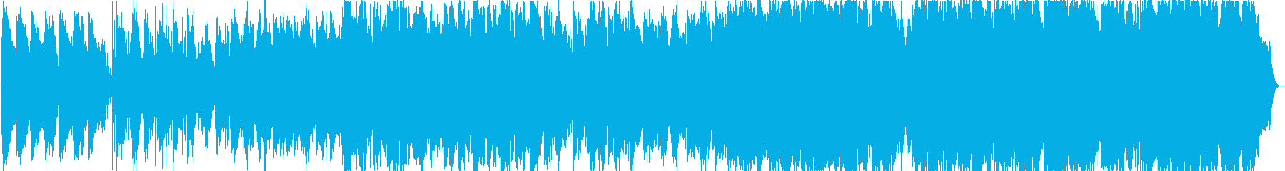 薄暗い森のイメージのヒーリング音楽の再生済みの波形