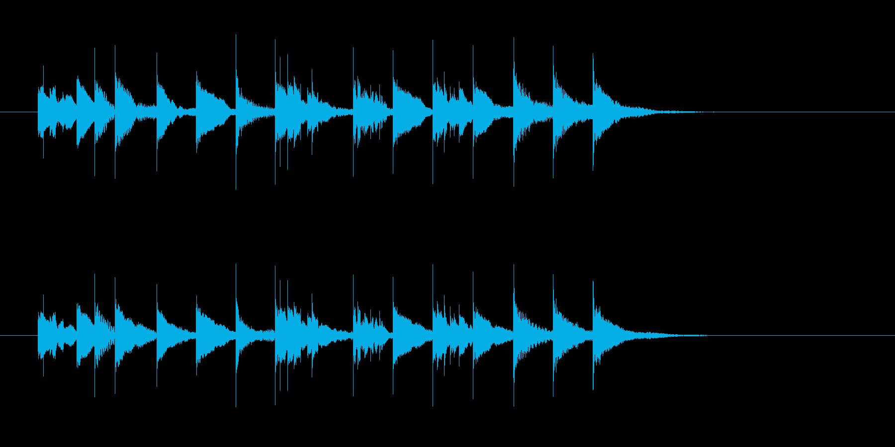 マリンバの哀愁のメロディーの再生済みの波形
