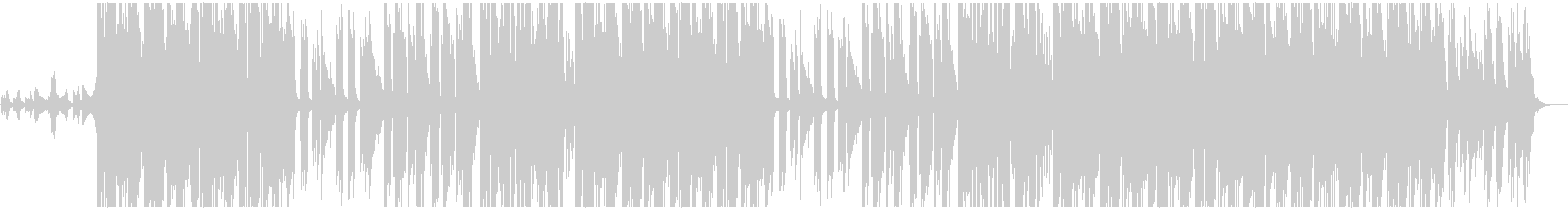 ワイルドで切ないBGMの未再生の波形