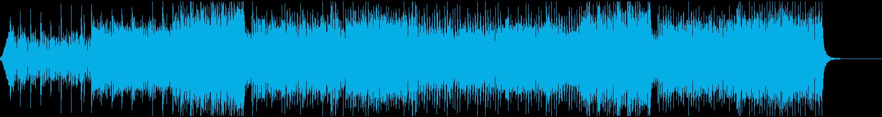 洋楽っぽいEDMの再生済みの波形