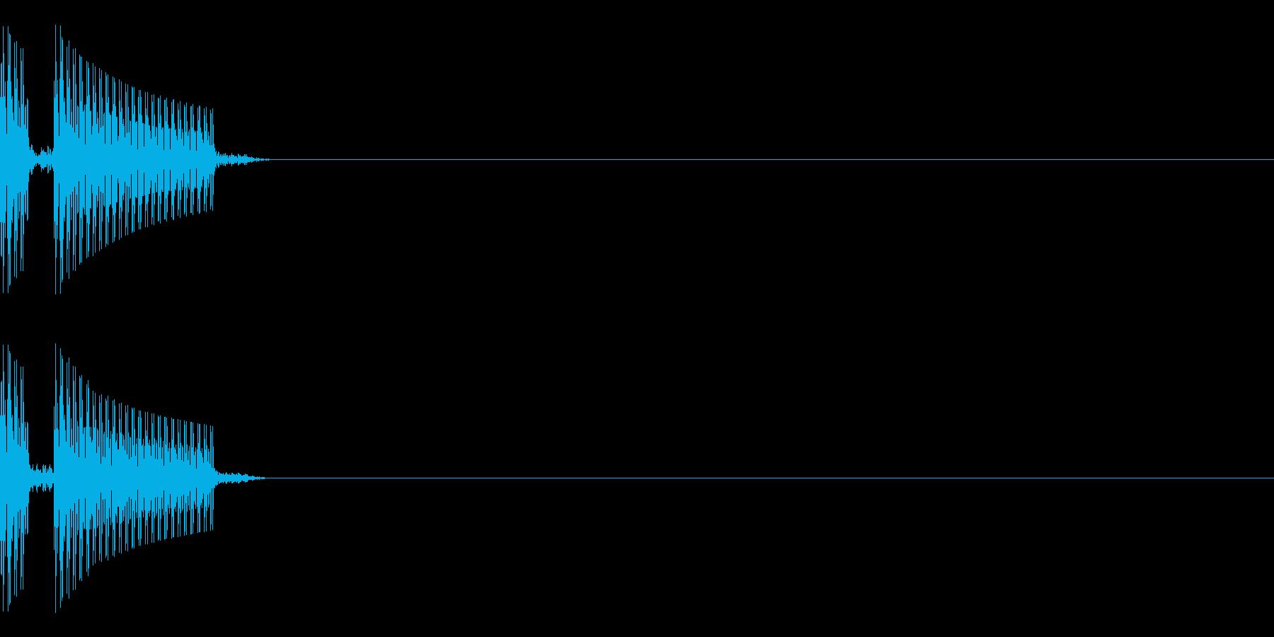ブブー(クイズの不正解音)キー高めの再生済みの波形