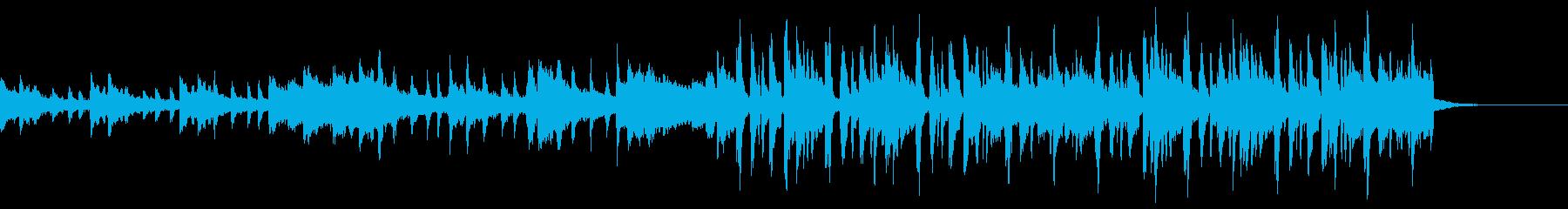 おしゃれな変則ビートの再生済みの波形