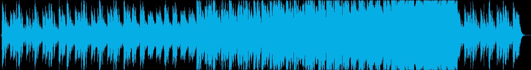 ダークで怪しい不協和なオーケストラBGMの再生済みの波形