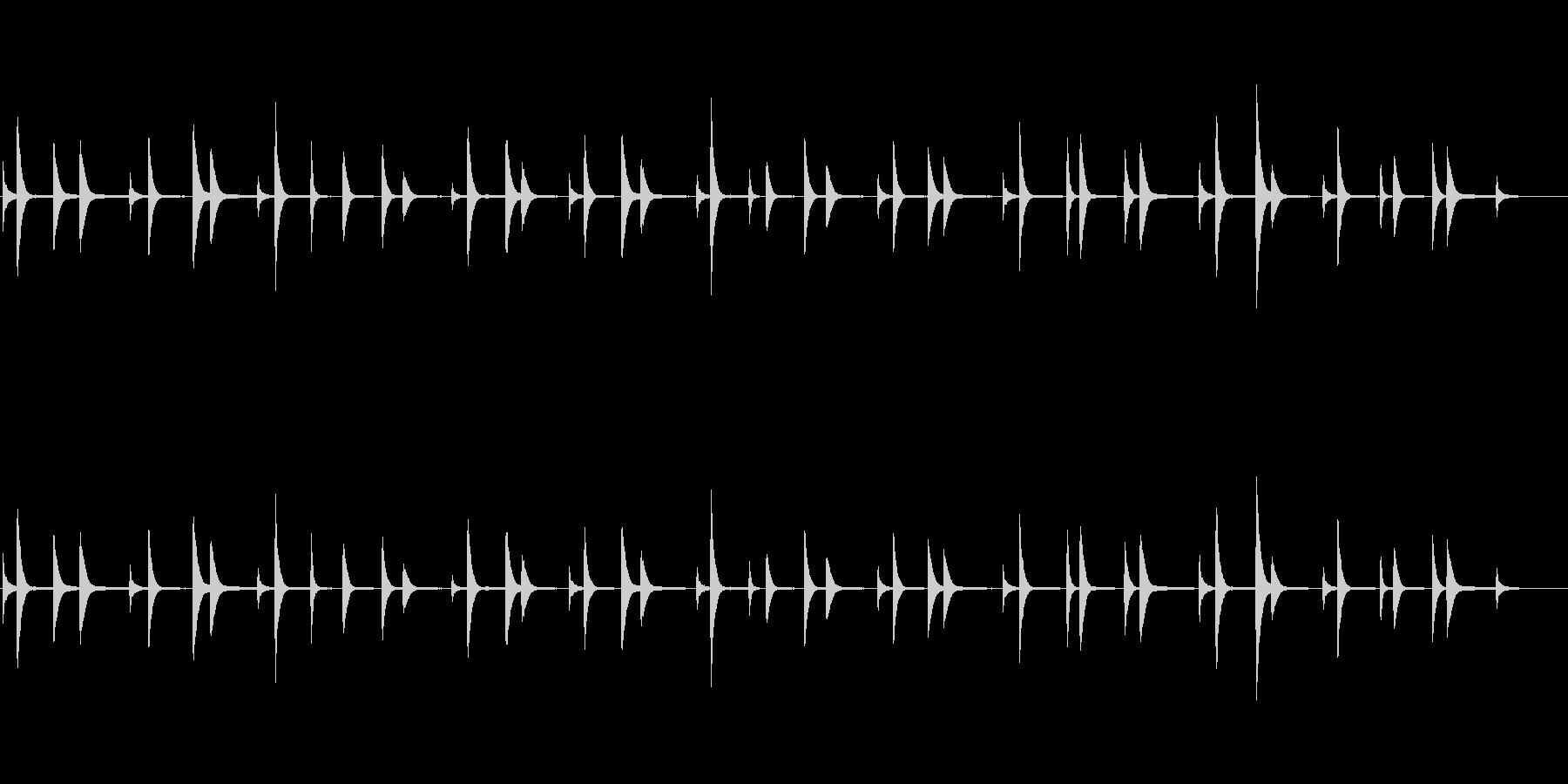 恐怖で不思議なピアノのBGMの未再生の波形