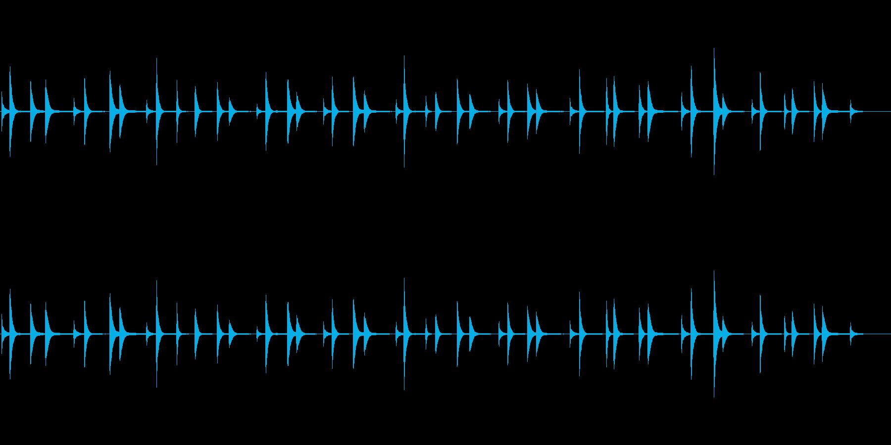 恐怖で不思議なピアノのBGMの再生済みの波形