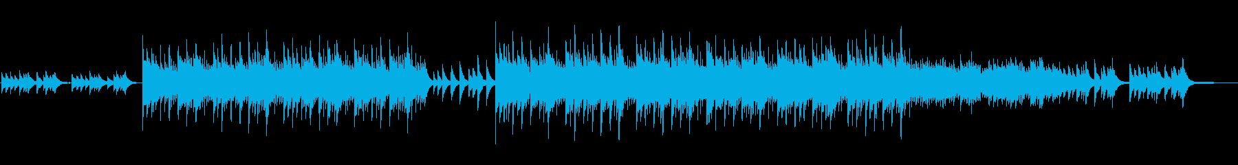 ほのぼのしたピアノ曲の再生済みの波形
