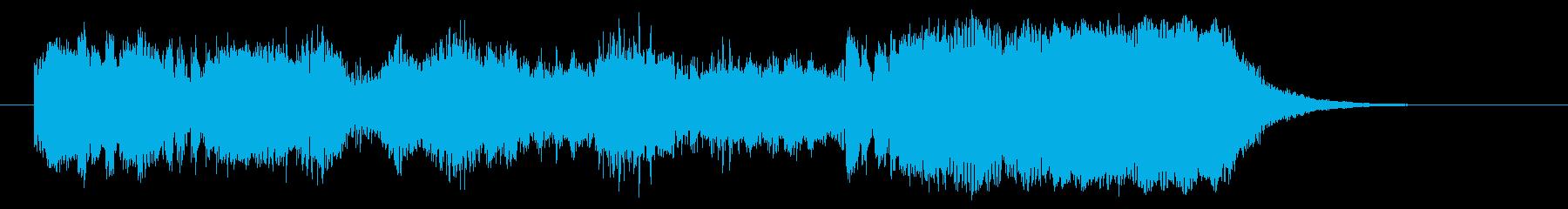 明るく豪華な管楽器シンセサウンドの再生済みの波形